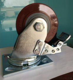 脚轮厂家直销 重型 4寸 聚氨酯脚轮  PU脚轮