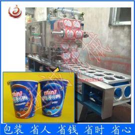 食品厂  定制全自动片膜封口压盖机 奥利奥饼干封口机