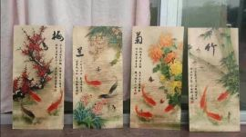 深圳宝安木板UV喷绘画 实木彩  案加工 木质包装盒印刷