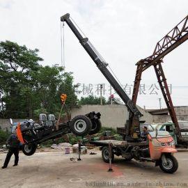 农用拖拉机改装随车吊 三轮车起重机价格