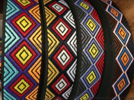 供应新款菱形提花织带
