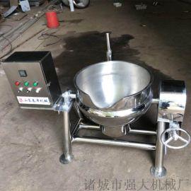 羊肉汤专用蒸煮锅 羊肉泡馍专用带搅拌夹层锅