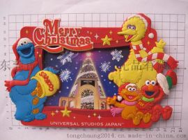 PVC软胶圣诞相框,精美卡通相框,赠送礼品相框