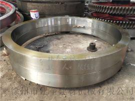新疆2.2米zg45活性炭转炉滚圈大齿圈