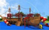 大型户外儿童攀爬滑梯幼儿园组合滑梯景区木制海盗船
