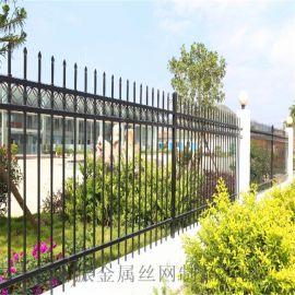 围墙铁艺围栏、围墙护栏、围墙锌钢隔离栏