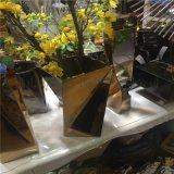 不鏽鋼花盆定製酒店會所裝飾擺件花箱