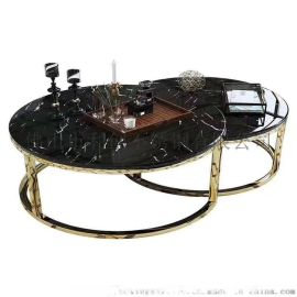 供應酒店大堂客廳茶幾定制不鏽鋼鏡面茶幾