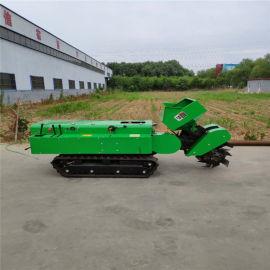 果园开沟施肥机一体机,履带式果园管理机