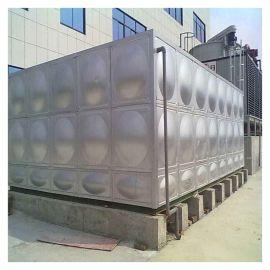 瑞安拼接式不锈钢消防水箱 黑水箱