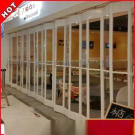 深圳宾兴定制水晶门水晶折叠门商场铝合金折叠推拉门