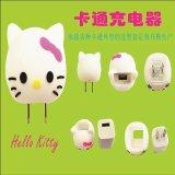 厂家直销PVC卡通KT猫充电器插头套 塑胶滴胶USB充电器外壳 可开模定制