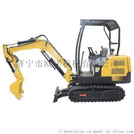 小型履带式挖掘机操作简单便捷 挖水沟专用小型挖掘机
