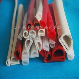 无味硅胶密封条 食品级橡胶条 耐高温硅橡胶密封条