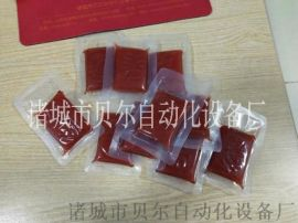台湾烤肠脆脆肠自动摆料真空包装机