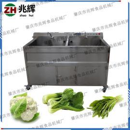 现货直销双缸气泡洗菜机器 不锈钢蔬果去污除泥清洗机