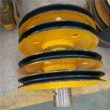 定製各種規格滑輪組 雙樑吊鉤組滑輪組軋製鑄鋼滑輪片