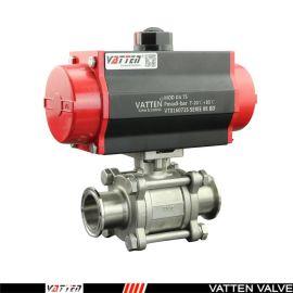 德国VATTENQ41F-16P 气动卡箍球阀中德合资上海工厂卫生级阀门卡套