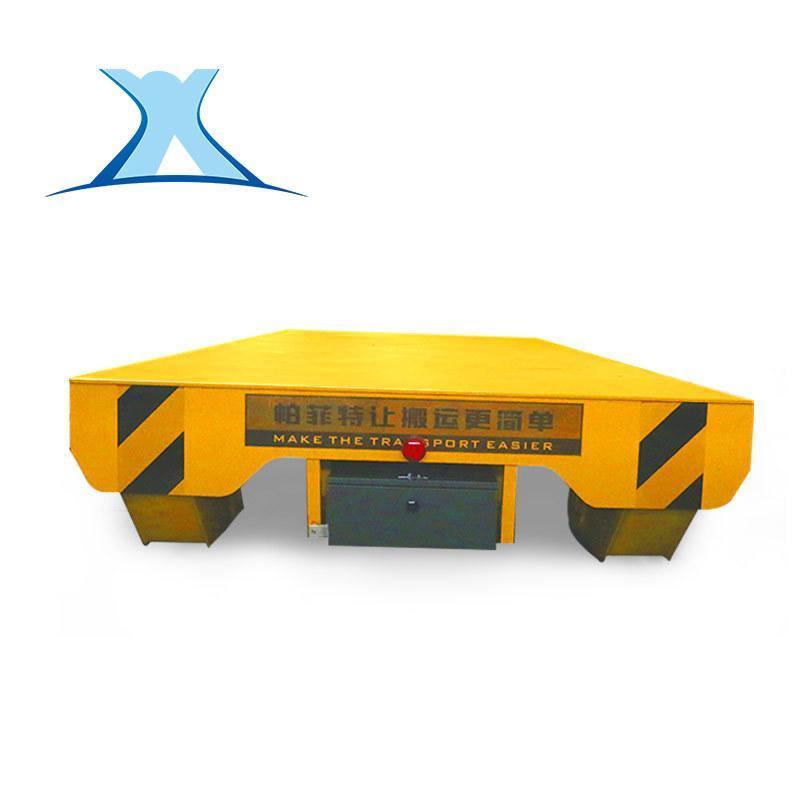 污水處理設專用鋼包軌道車蓄電池軌道電動遙控軌道平板車
