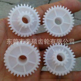 东莞市秦硕供应按摩器用M1.0*32T*10TPOM塑胶斜齿轮低噪音耐磨损