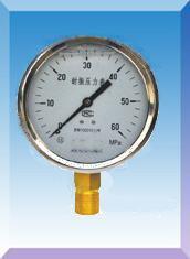 不锈钢壳耐震压力表YN-40/50/60/75/100/150