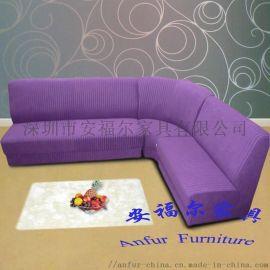 深圳 酒店  条纹布转角沙发 可选面料 深圳厂家