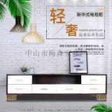新中式電視櫃,現代簡約茶幾櫃,北歐美式客廳實木家具
