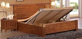 粤祥文瑞 实木高箱床 实木套房家具