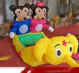 可愛動物充氣電瓶車多少錢  廣場經營兒童電動車