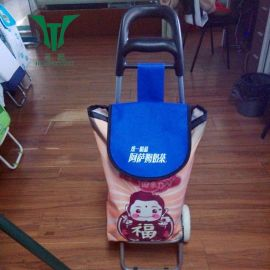 永康皇庭HT001牛角头购物车 促销礼品拉杆车 可印刷logo