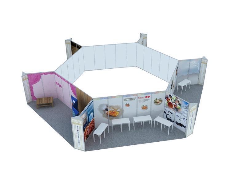 八棱柱标准展位搭建 活动庆典搭建 推广会招聘会展位租赁搭建