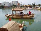 景區遊玩小木船 木質觀光手划船
