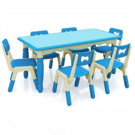 厂家直销幼儿园桌子 儿童课桌椅哈佛欧式六人桌批发 诚招代理