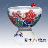 手繪陶瓷魚缸,家居小缸,定做陶瓷缸廠家