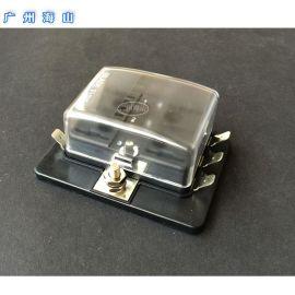 汽车保险丝盒 6路一进多出保险丝座 游轮汽车改装用品 台湾进口 中号保险丝座盒