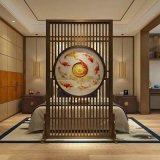 供应不锈钢酒店屏风花格不锈钢会所高端中式屏风钛金花格定制佛山