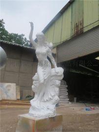 砂岩人物 欧式砂岩人物定做 园林景观砂岩人物女性雕塑