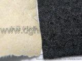 專業布料背膠加工廠家供應黑色軟不織布背膠