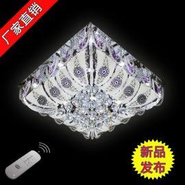 中山古镇灯饰厂家直销批发现代低压水晶客厅卧室方形吸顶灯90129