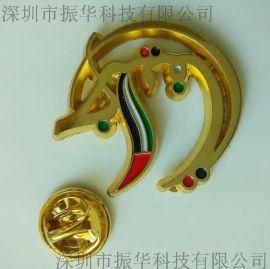 锌合金镂空烤漆徽章胸章定制