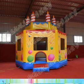 新款充气城堡 儿童充气跳床 蹦蹦床  充气蛋糕蹦床