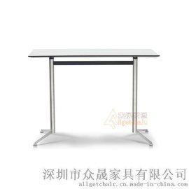 吧台 办公家具茶水间桌子 高脚办公会客桌批发价格