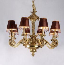 定制法式纯铜艺术吊灯法式脱蜡全铜灯具客厅卧室灯