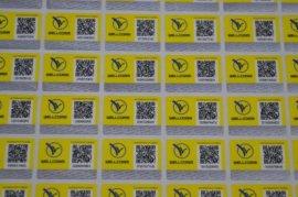 专业定制揭开式防伪标签 PVC材料