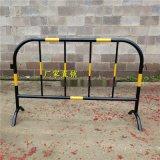 廣西南寧黃黑鐵馬道路護欄隔離施工護欄鐵馬圍欄