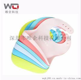 食品级硅胶围兜防水防脏立体围嘴男女均可使用 口水巾