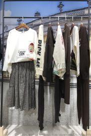 韩版休闲时尚女装尾货|卫衣T恤一手货源|春装