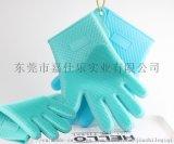 工廠直銷爆款矽膠洗碗手套隔熱耐磨家務手套廚房清潔手