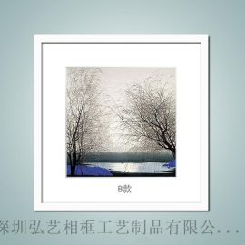 实木相框批发 16寸20寸 水墨国画版画用画框 中式简框装饰