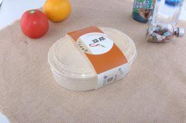 一次性木餐盒 外卖打包盒椭圆打包盒 木质盖浇饭盒送餐盒快餐饭盒